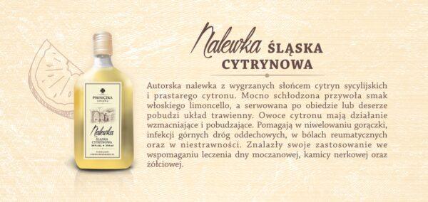 Nalewka Śląska Cytrynowa